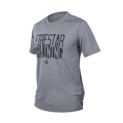 FIRESTAR 男吸排圓領短袖-短T T恤 路跑 慢跑 灰