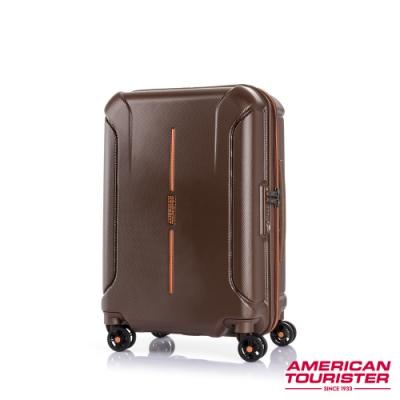 AT美國旅行者 25吋Technum防刮飛機輪可擴充TSA海關鎖行李箱(栗紅)