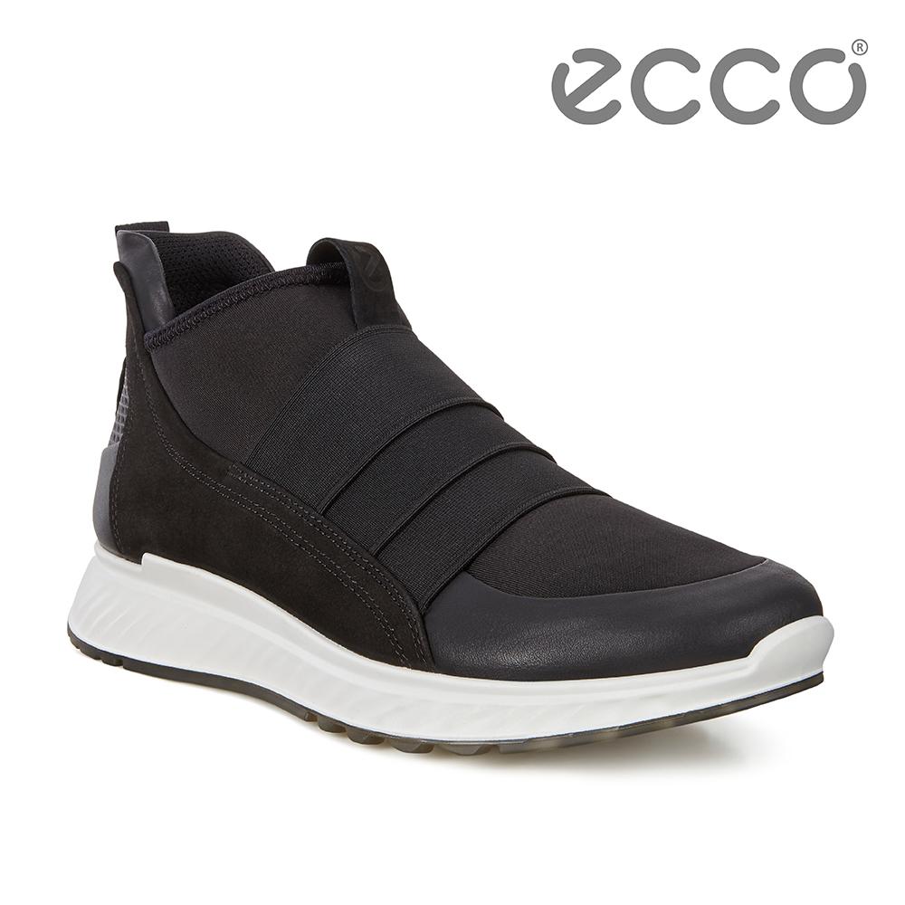 ECCO ST.1 M 輕盈套入式緩震運動休閒鞋 男-黑