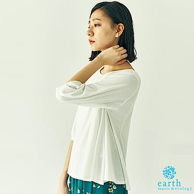earth music 簡約圓領素面上衣