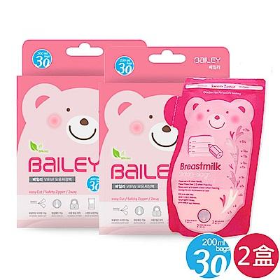 韓國BAILEY貝睿 感溫母乳儲存袋-壺嘴型30入(2盒)