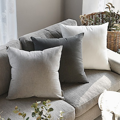 完美主義 日常素色45x45純棉靠枕套-2入組/韓國製/枕套/枕頭套/抱枕套(3色)