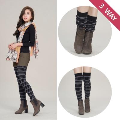 貝柔日本流行3穿百搭襪套-條紋