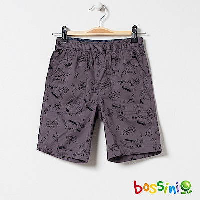bossini男童-印花輕便短褲03冷灰