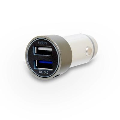 Hawk QC3.0 鋁合金雙USB車充 (01-HQC530)
