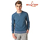 【hilltop山頂鳥】男款遠紅外線發熱保暖刷毛上衣 H51MH7賓藍