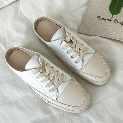 韓國KW美鞋館 經典簡約休閒網紅穆勒鞋 白