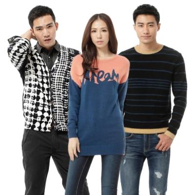 【時時樂限定】 LEE 男女保暖毛衣-五款選