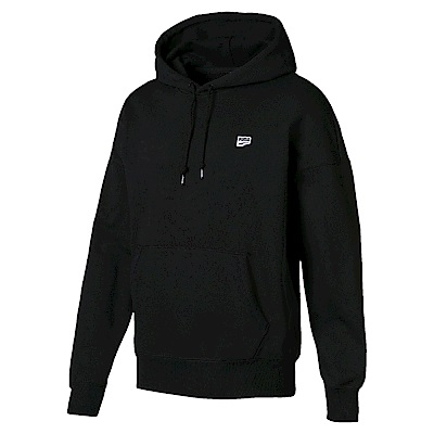 PUMA-男性流行系列Downtown長厚連帽T恤-黑色-歐規