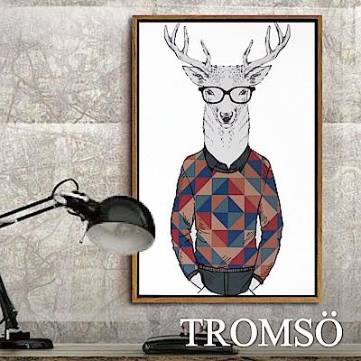 TROMSO北歐風尚板畫有框畫-時尚麋鹿40X60CM