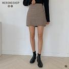 MERONGSHOP  韓國小姐姐學院格紋短裙-S.M(共二色)