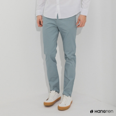 Hang Ten-男裝-SKINNY FIT緊身五袋款長褲-淺藍色