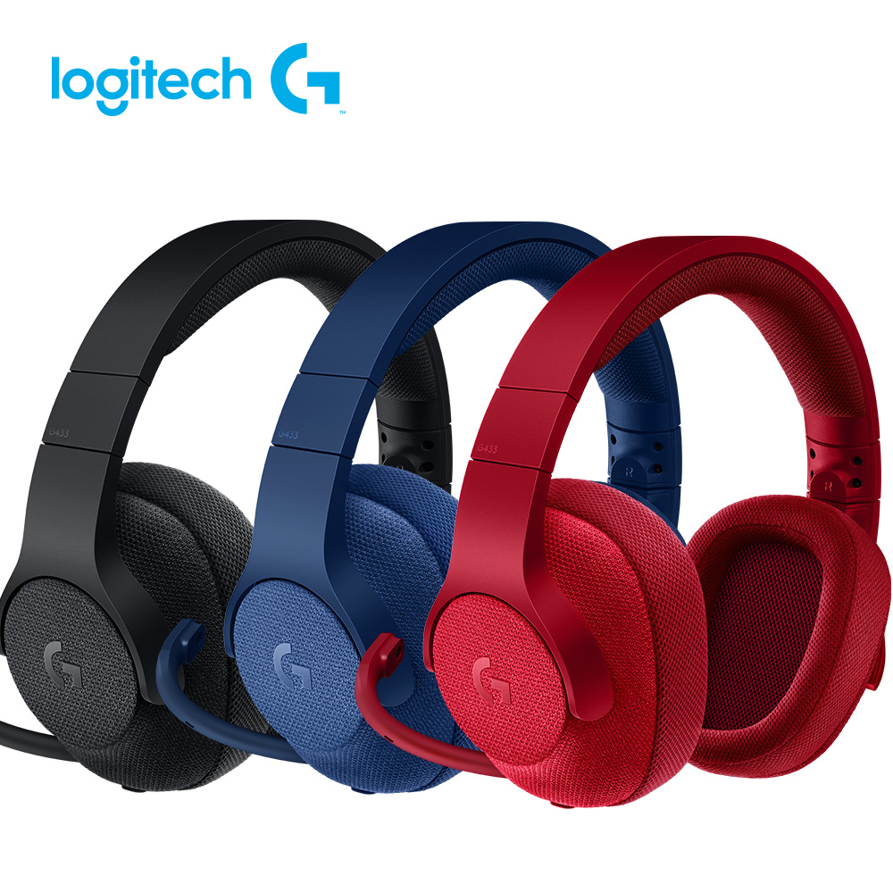 羅技 G433 7.1聲道有線遊戲耳機麥克風