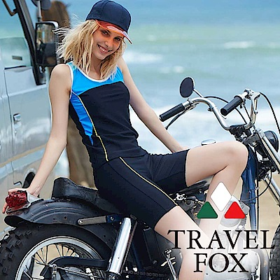 TRAVEL FOX夏之戀 大女長版二件式泳衣