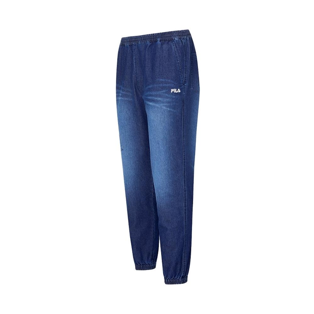 FILA 男牛仔長褲-藍色 1PNV-1478-BU
