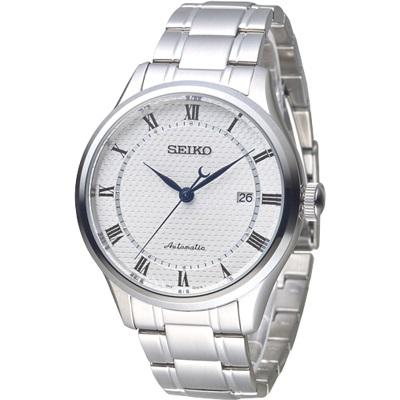 SEIKO 完美情人羅馬刻度24石自動機械錶(SRP767K1)-白/38mm