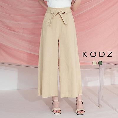 東京著衣-KODZ 日系質感綁結口袋舒適寬褲-S.M.L(共兩色)
