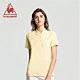 法國公雞牌短袖POLO衫 LWJ2314352-女-淡黃 product thumbnail 1