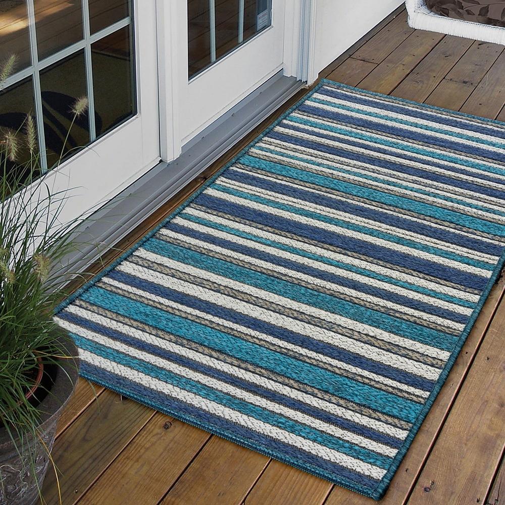 Ambience 比利時Brighton 玄關/門口平織地毯(深藍 60x110cm)