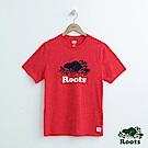 男裝Roots 白星顆粒短袖T恤-紅