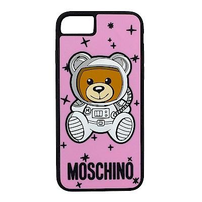 MOSCHINO 新款可愛外星太空熊 I Phone 8 軟膠手機殼 (粉紅)