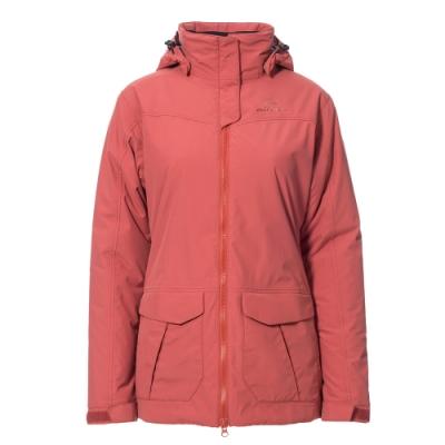 法國【EiDER】 女防水透氣保暖多功能附帽外套/EIT2508-磚紅