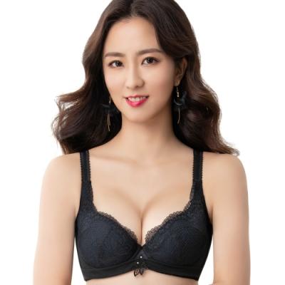 思薇爾 撩波系列F-G罩蕾絲包覆大罩內衣(黑色)
