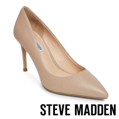 STEVE MADDEN-LILLIE 極美型素面尖頭高跟鞋-粉藕色
