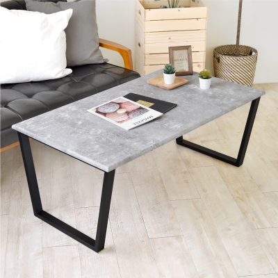 《HOPMA》DIY巧收 大桌面茶几桌/大理石桌/清水模桌-寬110 x深60 x高45cm