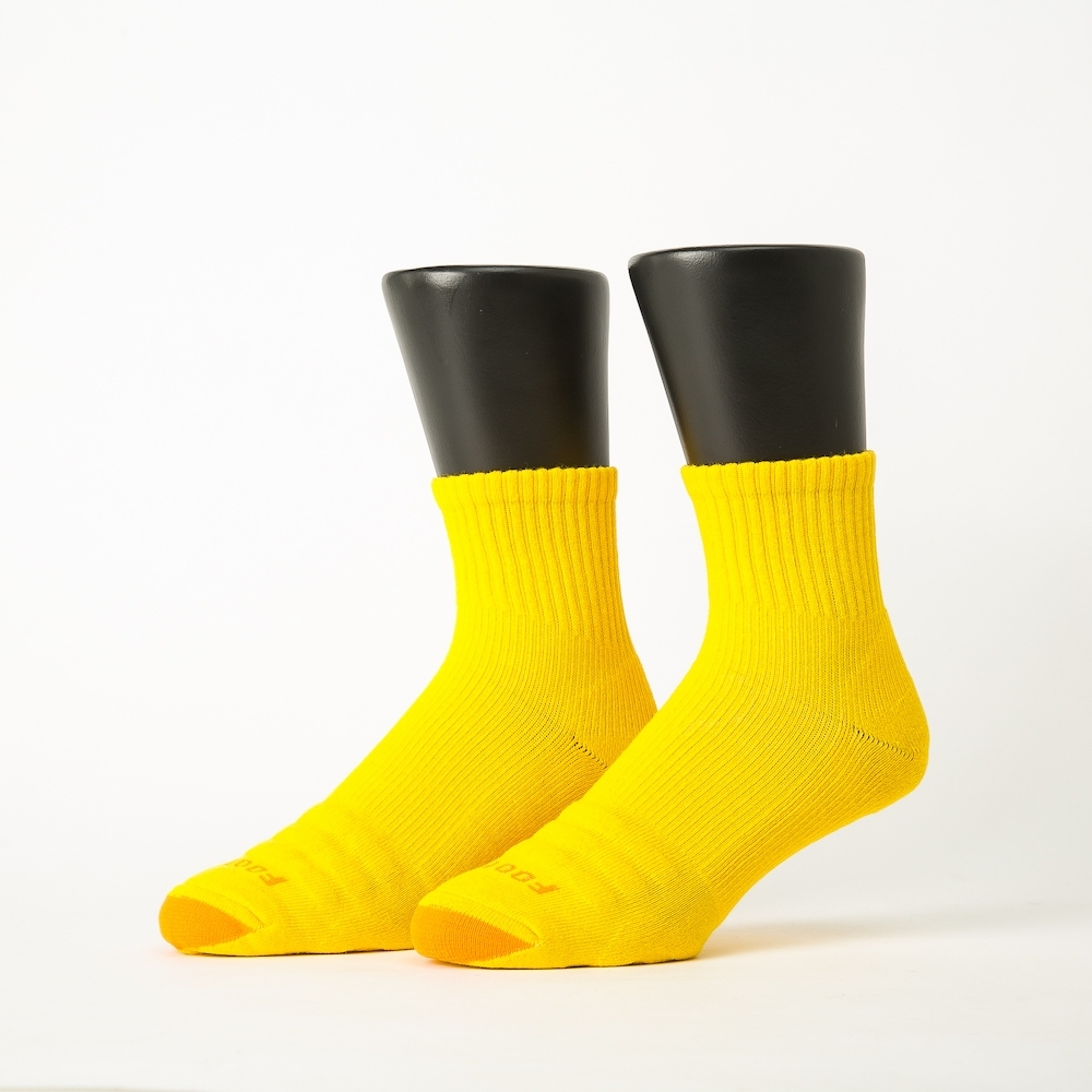 Footer除臭襪-螺旋氣墊輕壓力襪-六雙入(白色*2+綠色*2+黃色*2)