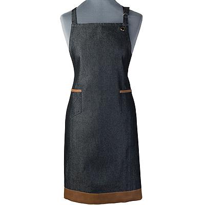 CreativeTops 平口雙袋圍裙(單寧黑)