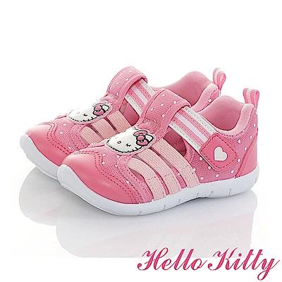 HelloKitty 輕量透氣彈性減壓防臭休閒童鞋-桃