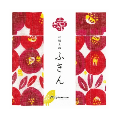 日本派迪 超吸水廚房擦拭清潔方巾 金子美鈴聯名系列-山茶花(M)