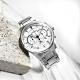 CITIZEN  經典商務 三眼計時 日期 防水100米 不鏽鋼手錶-白色/42mm product thumbnail 1