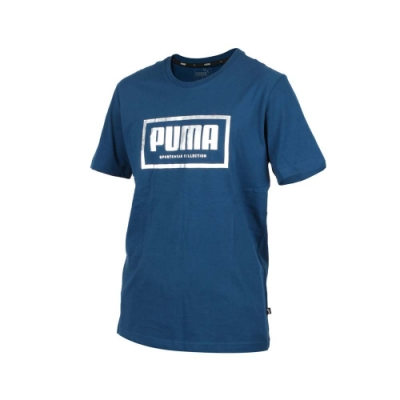 PUMA 男 基本系列Holiday短袖T恤 墨藍銀