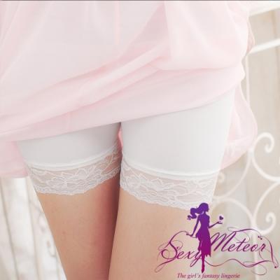 內搭 全尺碼 內搭褲安全褲(白冰絲蕾絲) SexyMeteor
