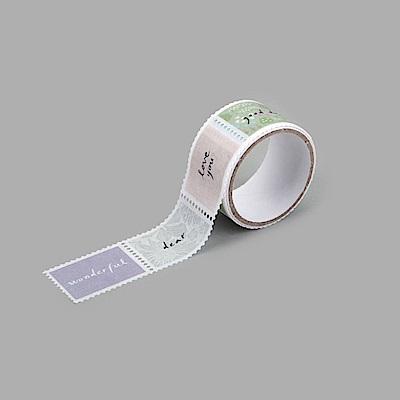 Dailylike 郵票造型紙膠帶(單捲) - 04 書寫