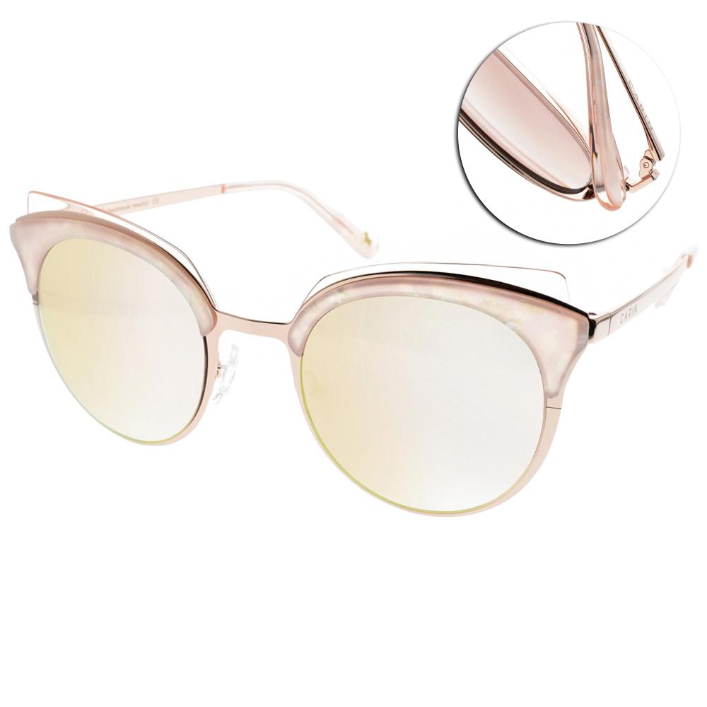 CARIN水銀太陽眼鏡 秀智代言 魅力貓眼款/粉金 #RIMPTON C2
