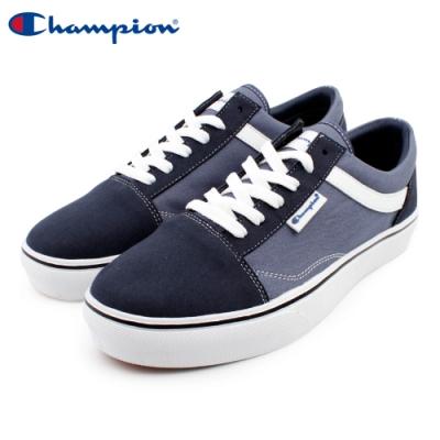 【Champion】U-C Plain 休閒帆布鞋 男鞋-深藍(MFLS-9016-61)