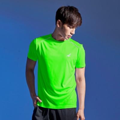 【AIRWALK】反光條設計吸排圓領T恤-綠色