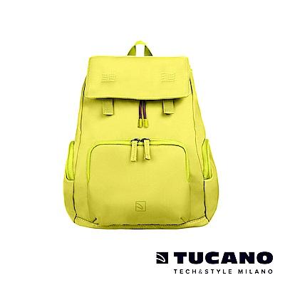 TUCANO 超輕量防潑水撞色系休閒後背包-黃色