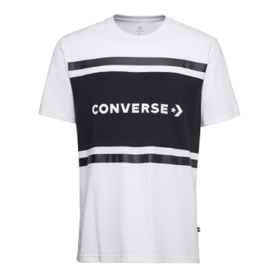CONVERSE COLORBLOCK SS男短袖上衣 白-10017458-A01