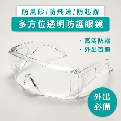 【DAYA】高清透明 多功能防飛沫 護目鏡(1入)