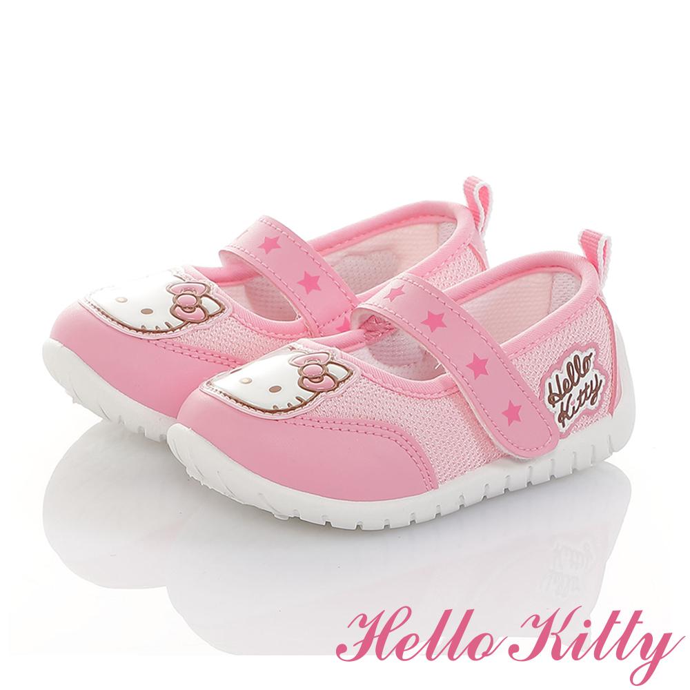 HelloKitty童鞋 輕量透氣抗菌防臭室內外娃娃鞋-粉