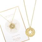 Orelia英國品牌 圓牌鏤空星型金色項鍊