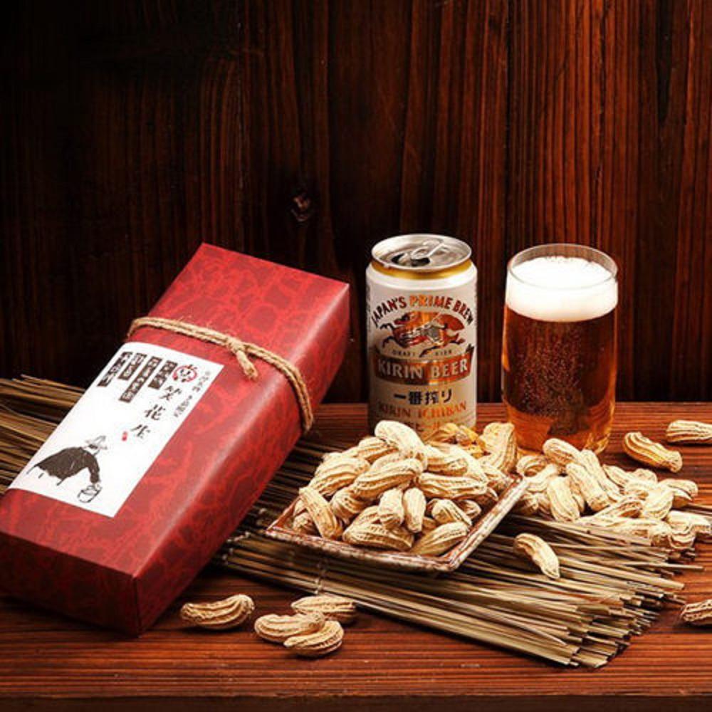 喜笑花生‧禮盒組(附提袋)(160g/盒,共2盒)