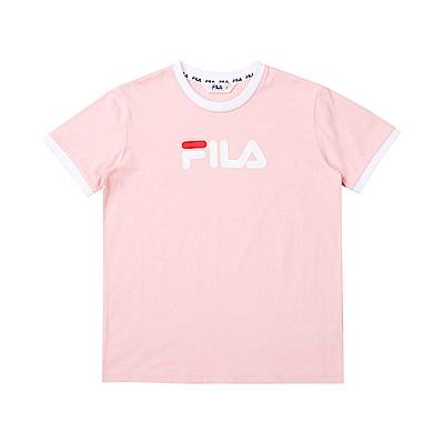 FILA KIDS 童短袖圓領T恤-粉色 1TET-4508-PK