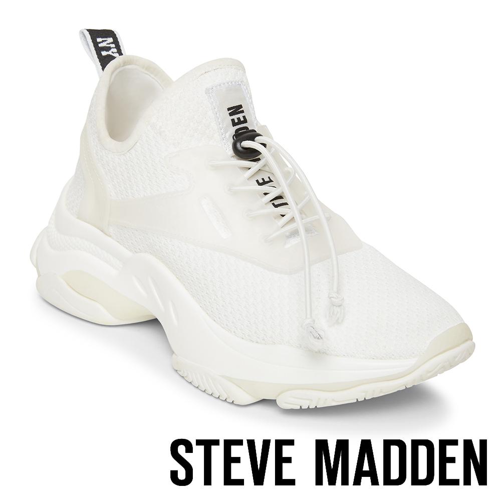 STEVE MADDEN-MATCH-LOGO素面增高休閒鞋-白色