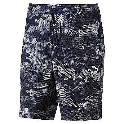 PUMA-男性流行系列印花短風褲-重深藍-亞規