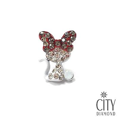 City Diamond引雅【東京Yuki系列】蝴蝶結貓貓胸針/領帶/別針/徽章